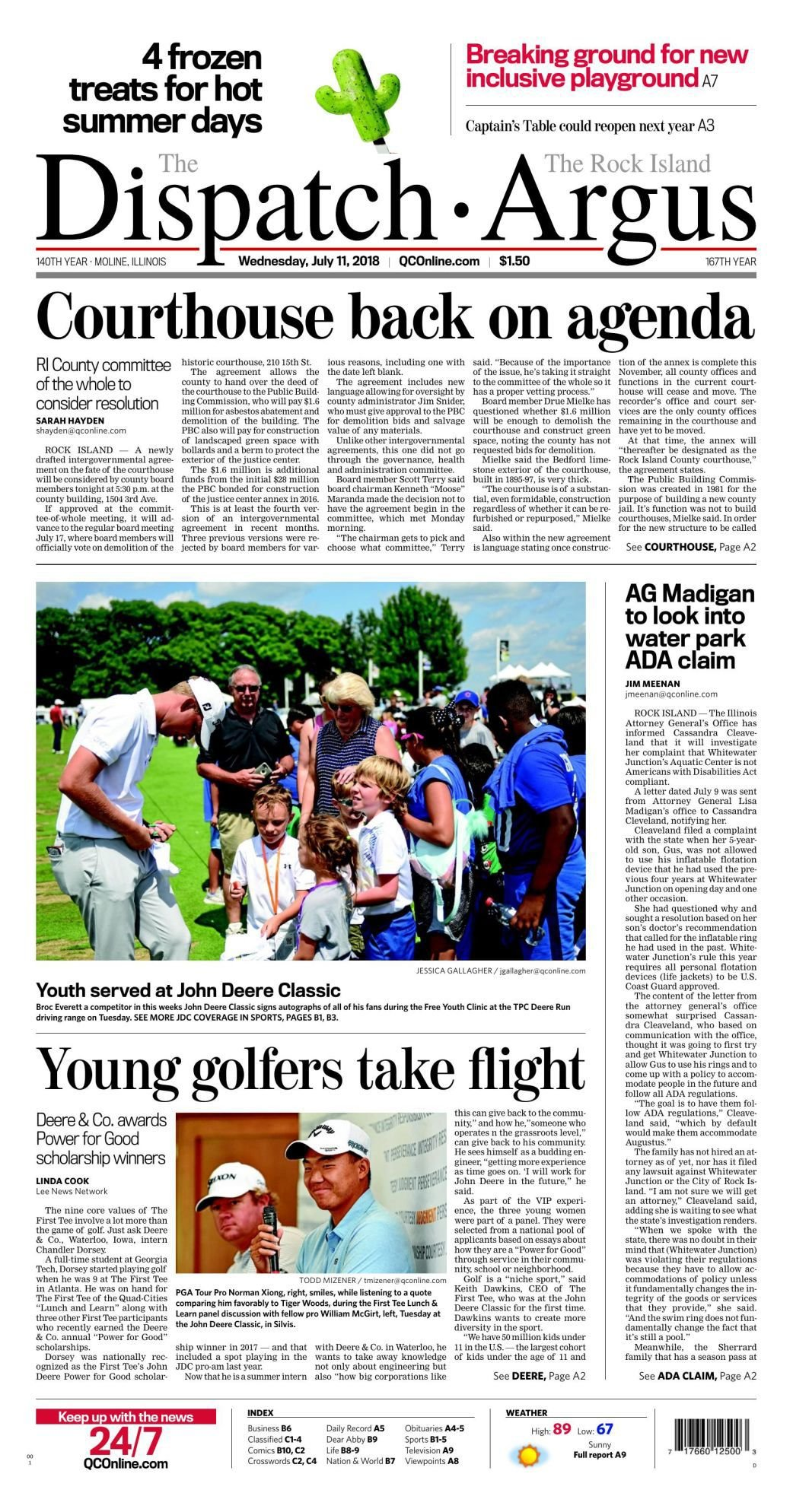 Front Page July 11, 2018