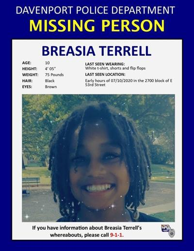 Missing person: Breasia Terrell