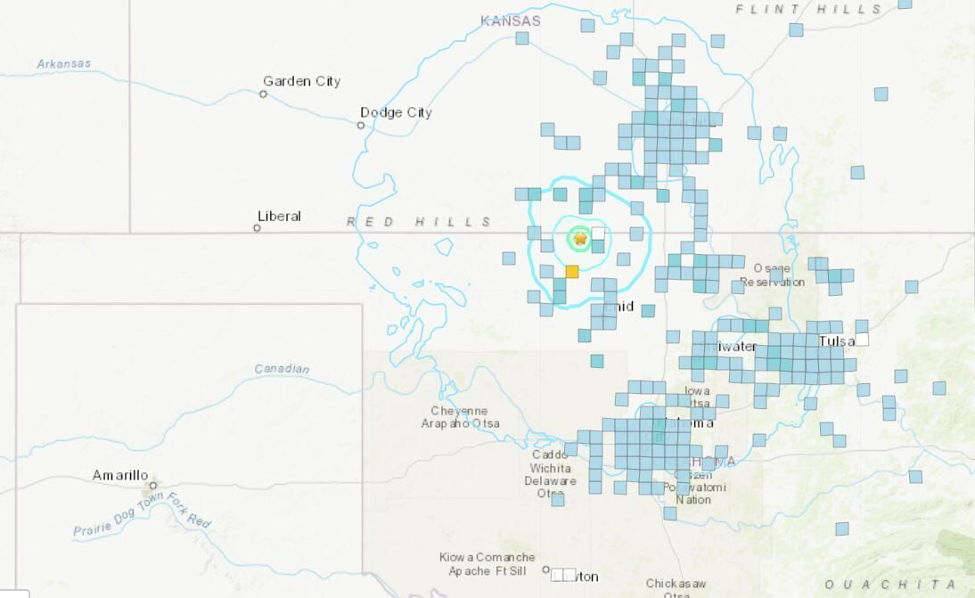 Feb. 19, 2021 quake map