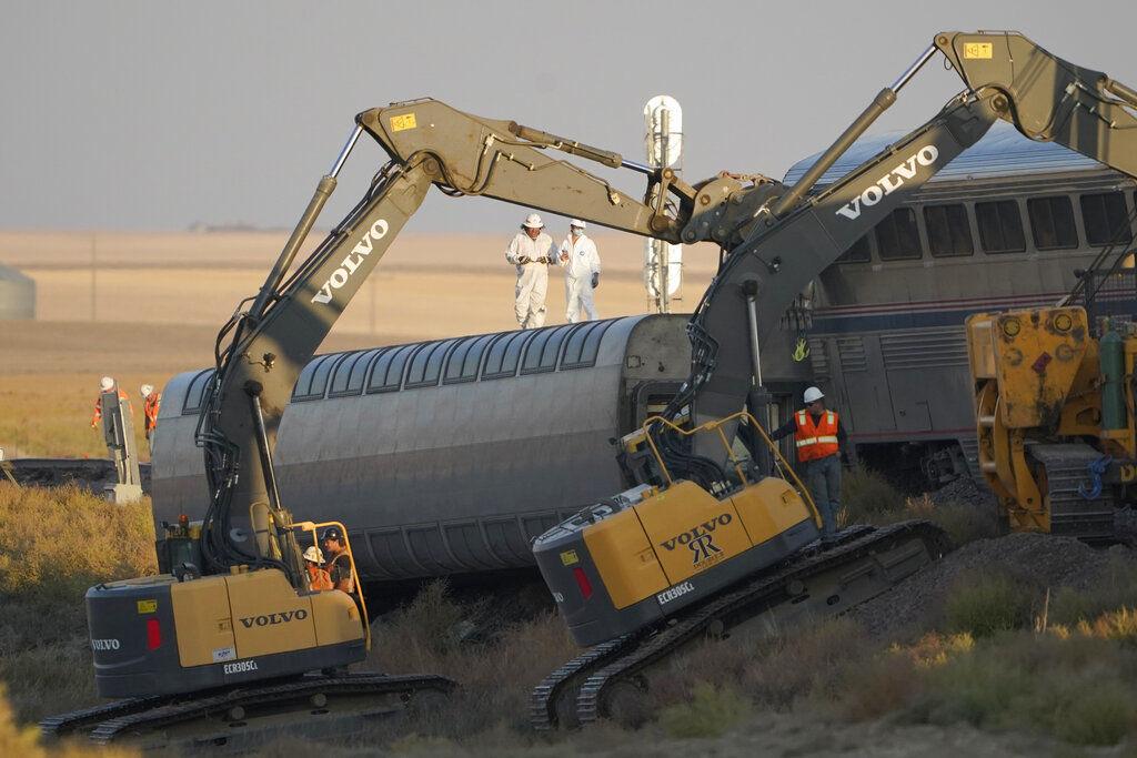 APTOPIX Amtrak Train Derails