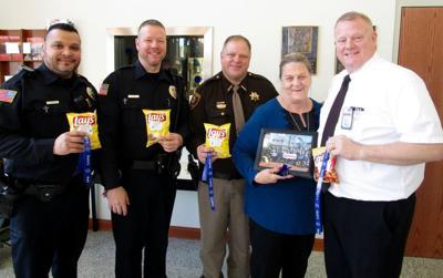 Hooppole mom honors area law enforcement