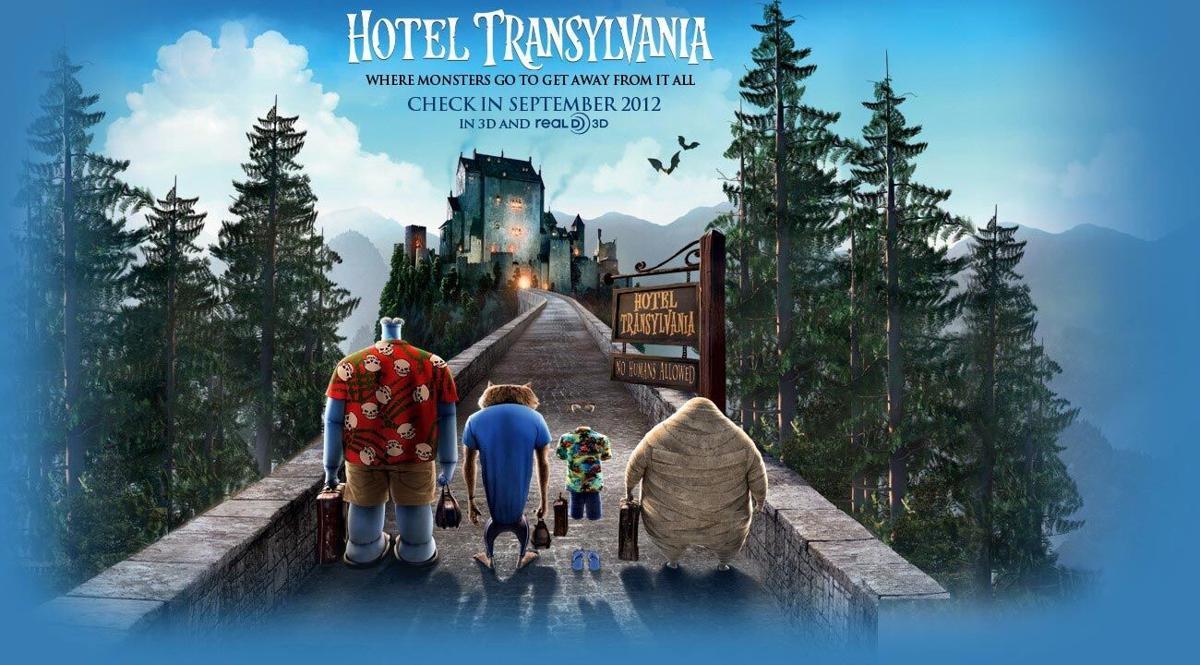 With the family: Hotel Transylvania
