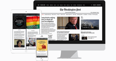 Members can save 40% on an annual Washington Post subscription!