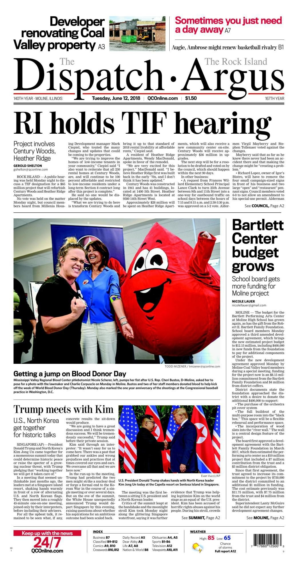 Front page June 12, 2018