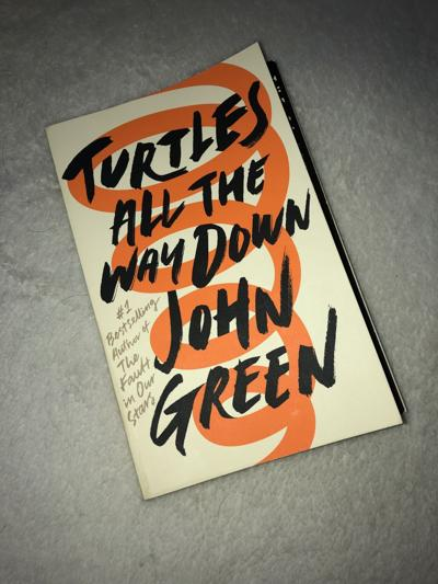 """Book Cover of """"Turtles All the Way Down"""""""