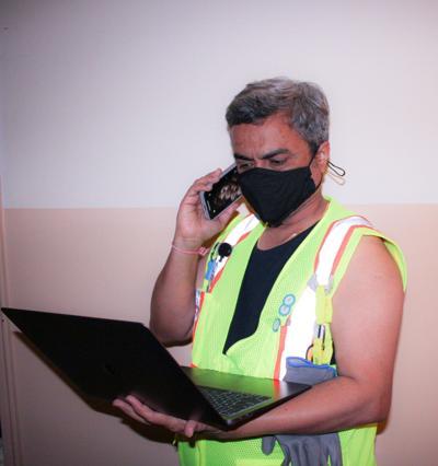 A logistics worker