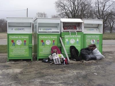 Unsightly collection bins to be removed