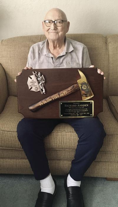 'You could always count on him': Ludlow Fire honors Amsden for 60-plus years of service
