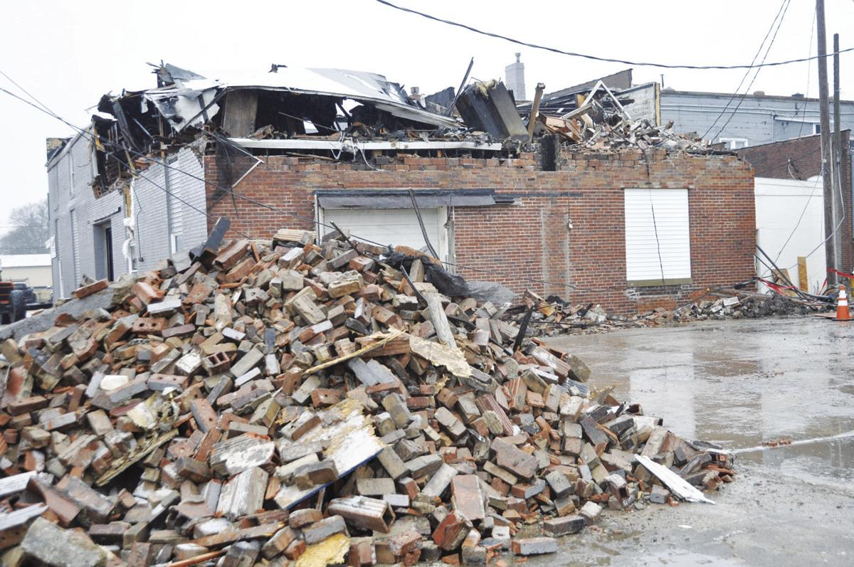 Demolition of burned building knocks out power in section of downtown Rantoul