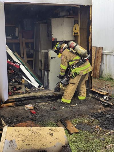 Fire damages shed on Mahoning, Rantoul