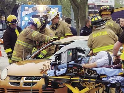 It's dangerous out there: Mock car crash staged to show students the hazards