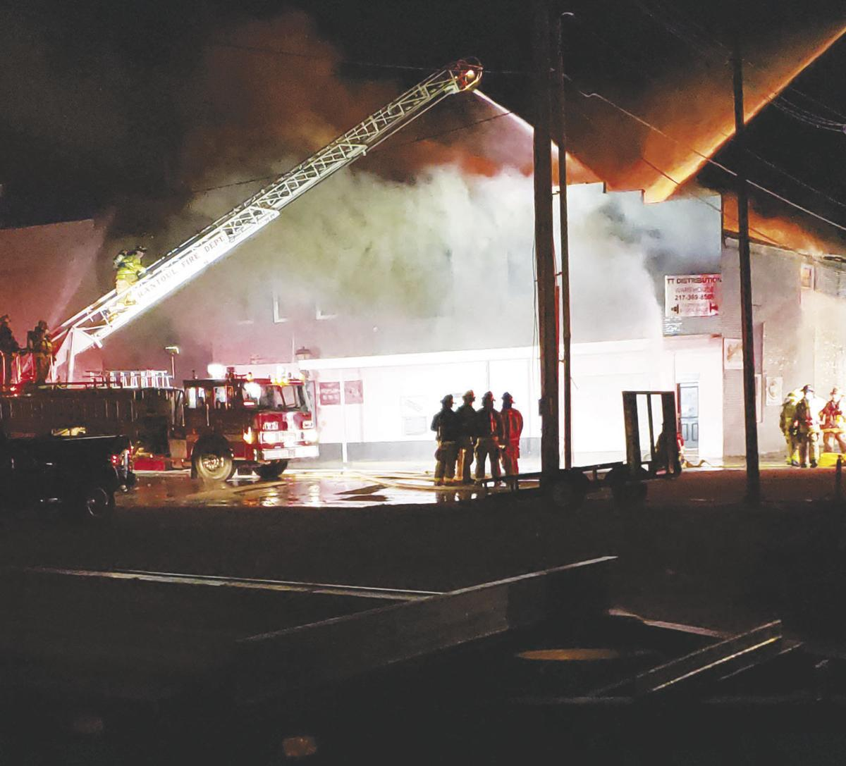 Million-dollar fire hits downtown building