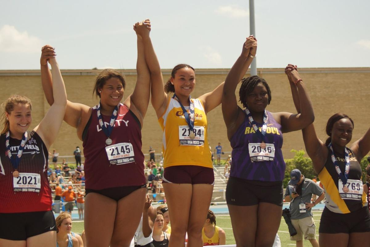 Williams placed third in the shot put, Young finished third in the long jump and the Eagles finished fifth in the 400 meter at the IHSA 2A State Finals held at Eastern Illinois University