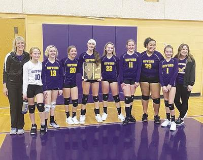 Gifford volleyball team April 8