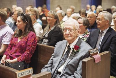 He's got the music in him: Church honors Wolters for 45 years of musical ministries