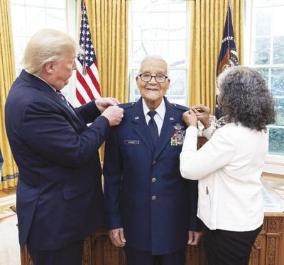 Tuskegee Airman recognized by Trump had post-war training at Chanute