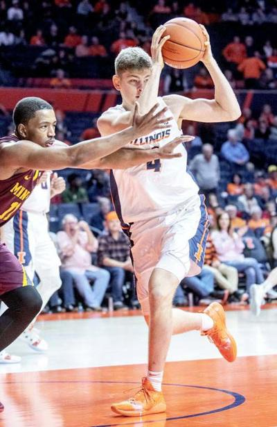 Former Bunnie Zach Griffith scores first points with the Illini