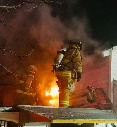 Frigid night to fight a fire — and be displaced