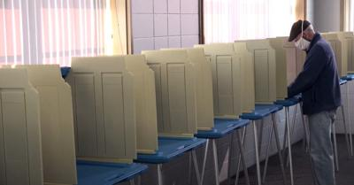socially distanced voting