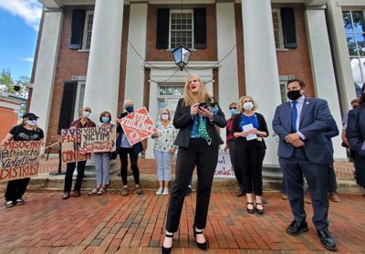 Judge Fisher protest Loudoun