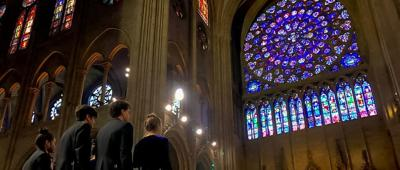 Touched by the flames of Notre Dame