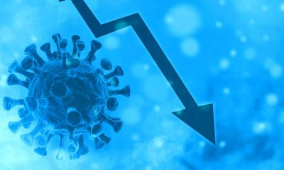 3d Created Corona Virus Concept. End Of The Corona Pandemic In Winter. Falling Numbers Of Illnesses.
