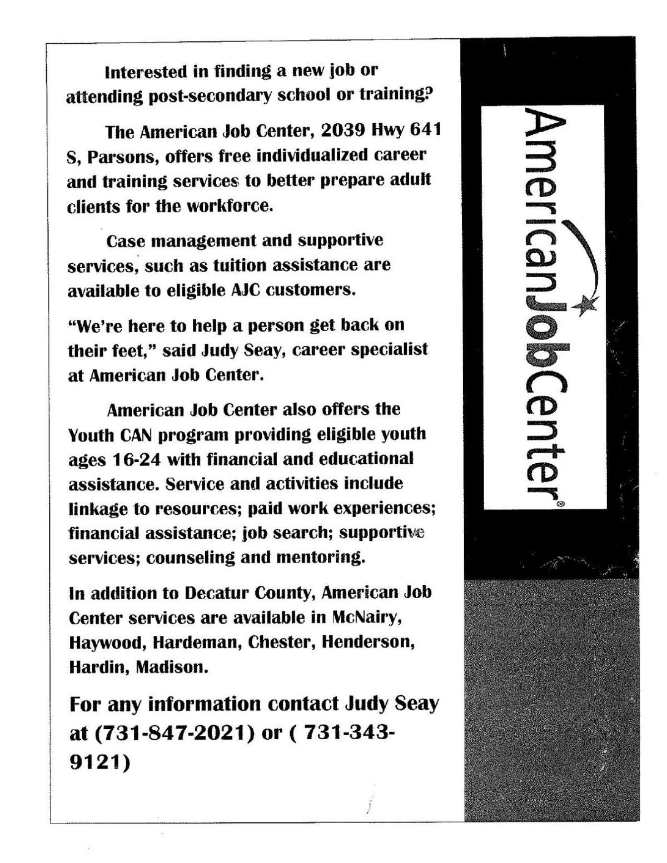 Job Center offers opportunities