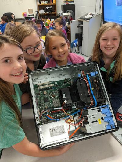 """PES fourth grade S.T.E.A.M. students take a """"byte"""" at computers"""