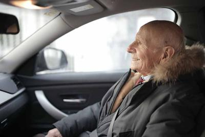 senior adult passenger