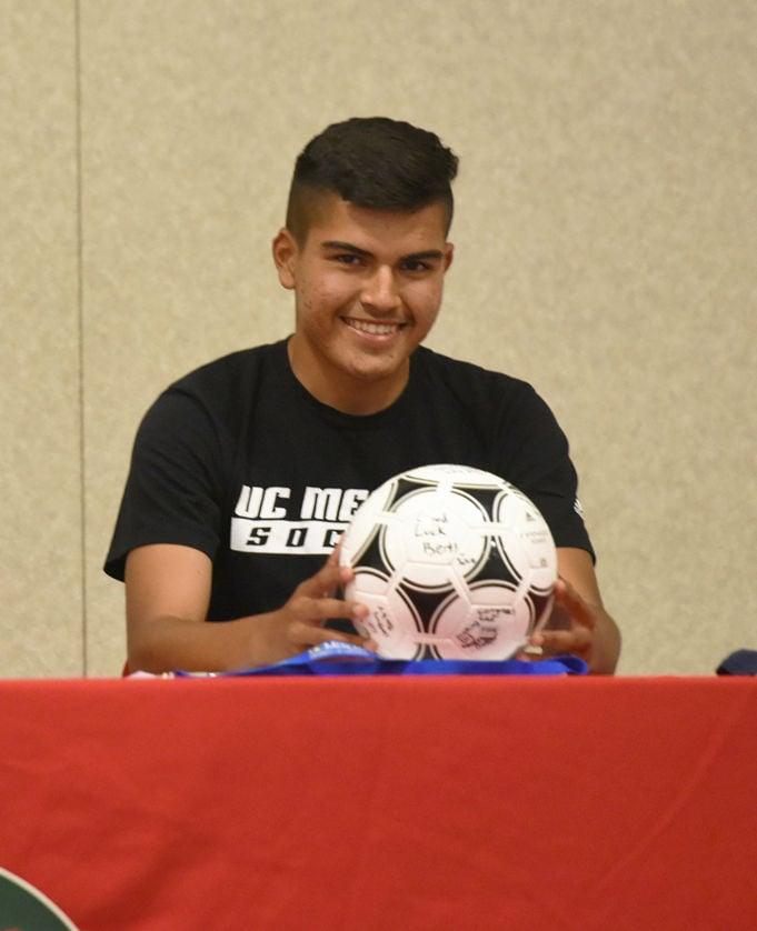 LHS gives Gutierrez a soccer ball