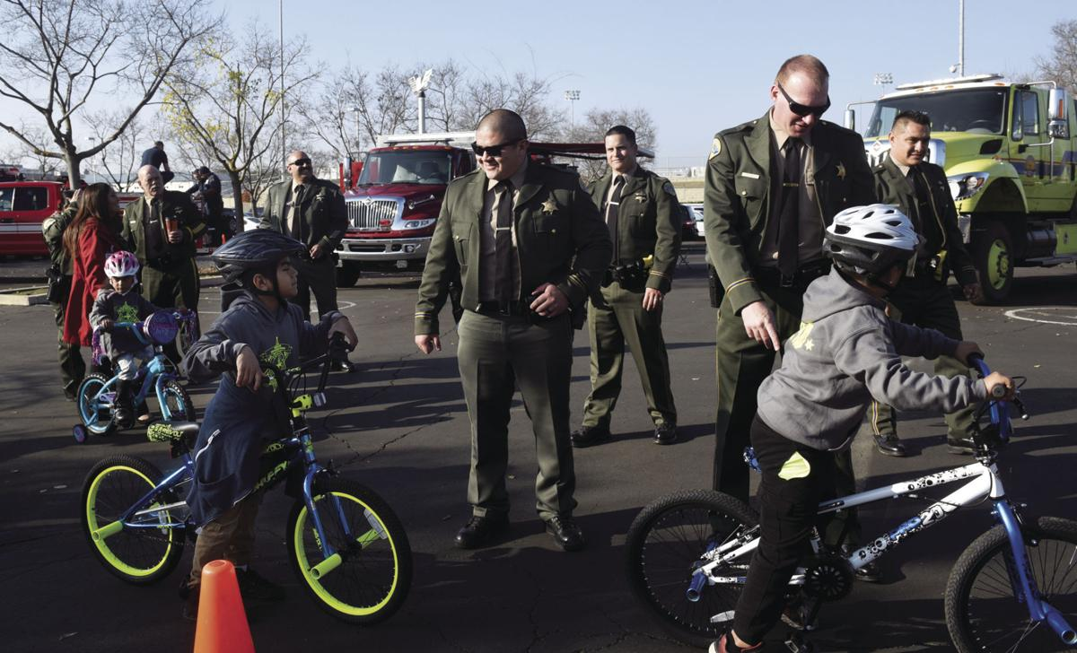 Sheriff hosts open house, gives away bikes