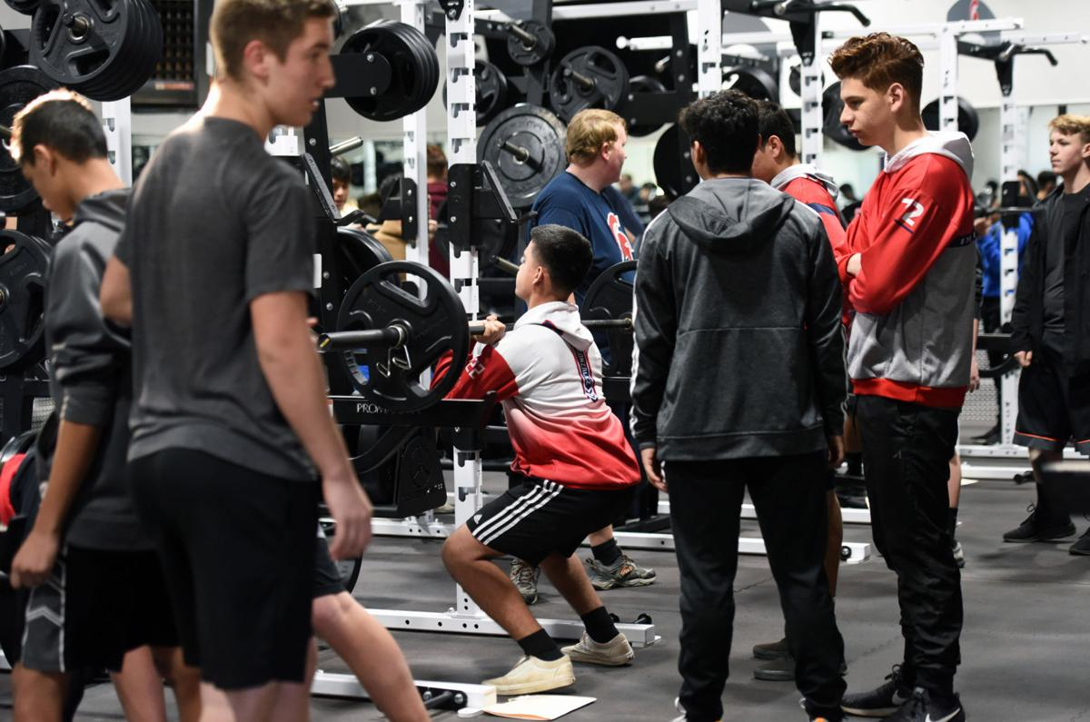 Full class fits in weight room