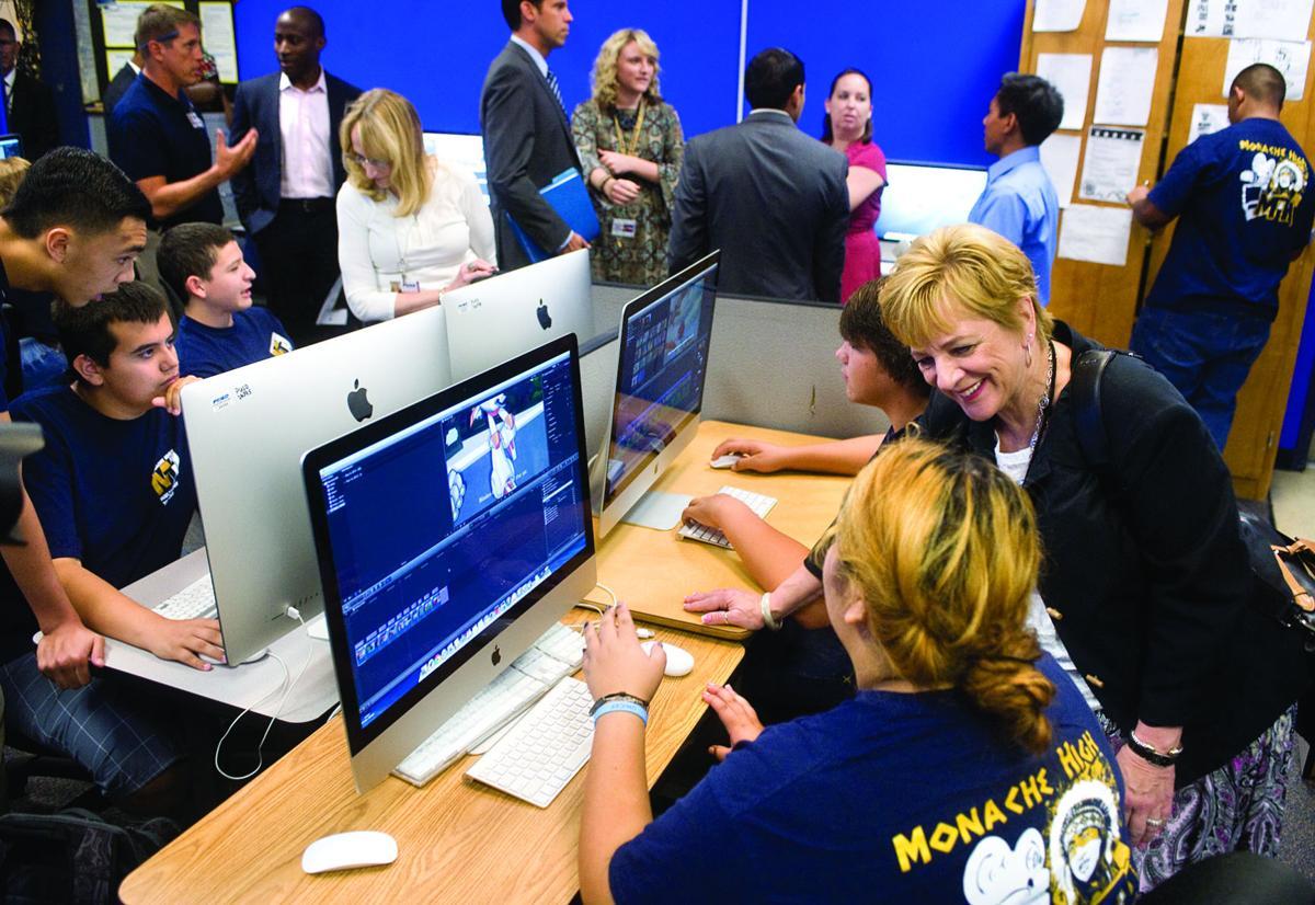 U.S. Dept. of Education Deborah Delisle visits Monache High School