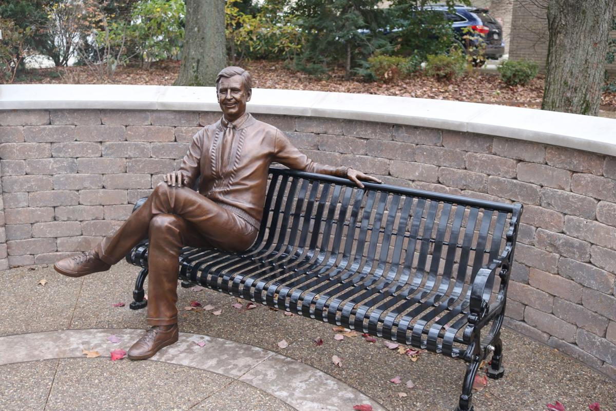Fred Rogers statue in Fred Rogers Memorial Park, downtown Latrobe