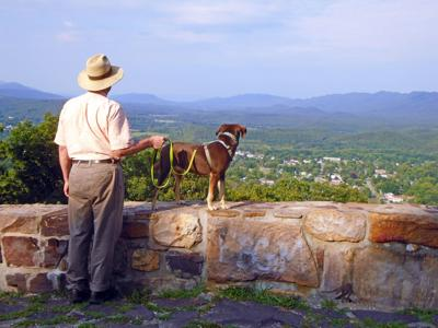 Craig County - New Castle - Rt42-Overlook-BlairJones-with-dog-Paige.jpg