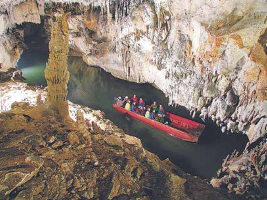 Penn's Cave in Central Pennsylvania is the region's only cave tour by boat.