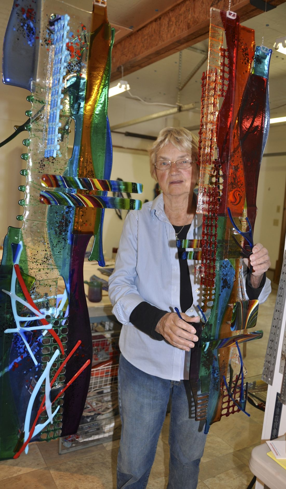 Sarah Richards known for her glass and metal sculptures.jpg