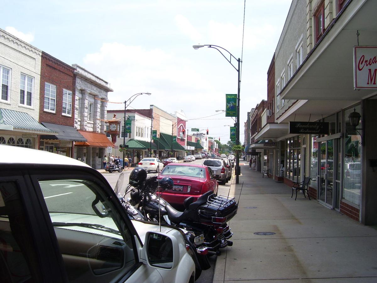 The vibrant downtown in Mount Airy lures many retirees, some of whom become entrepreneurs.