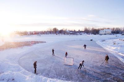Ice Skating Stock