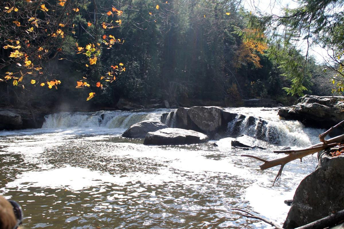 Fall is a beautiful time to visit this popular state park, Swallow Falls State Park.