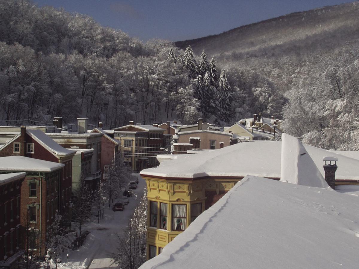 Downtown winter Jim Thorpe