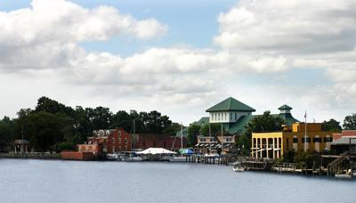 "Elizabeth City calls its waterfront the ""Harbor of Hospitality."""