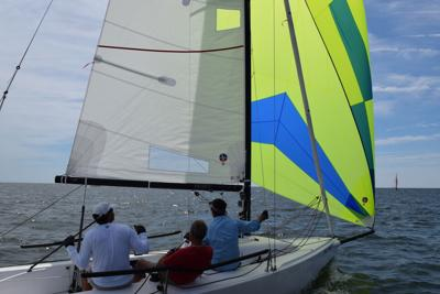 The Leukemia Cup Regatta provides a beautiful display of sailboats on the Piankatank River.