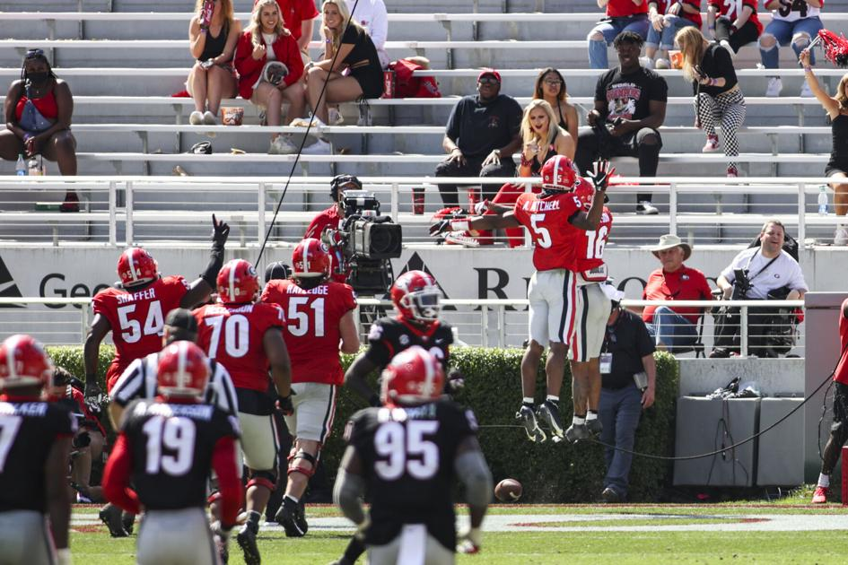 Georgia football exhibits arsenal of receivers at G-Day