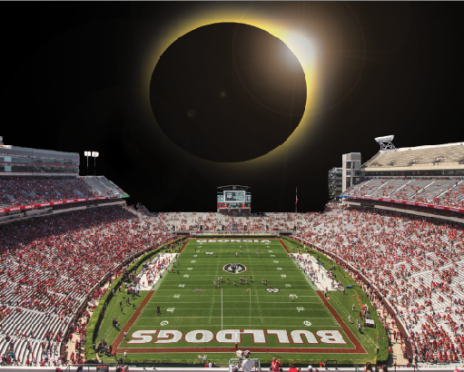 Eclipse Viewing from UGAs Sanford Stadium