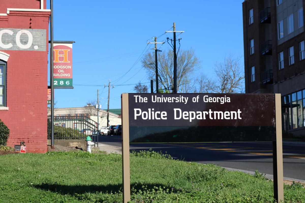 UGA Police Dept sign