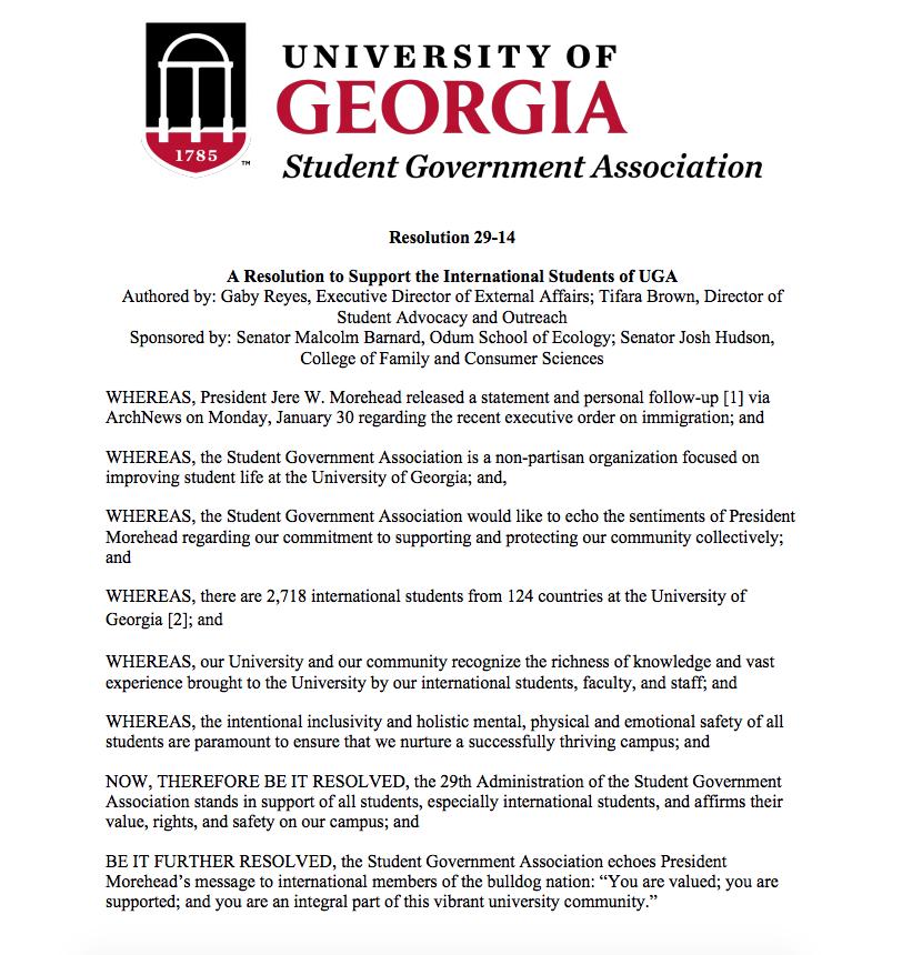 SGA Resolution 29-14