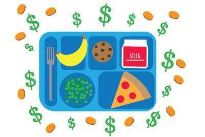 Lunch Debt tray graphic