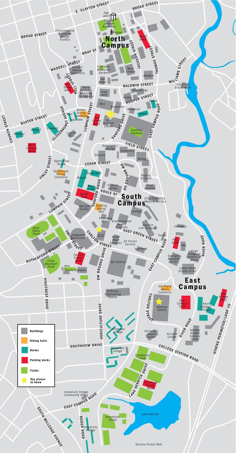 Uga Campus Map With Building Numbers.Oh The Places You Ll Go An Extensive Look At The Hot Spots On The