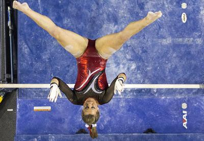 Gym Dogs jump to No  6, No  1 on bars after upsetting LSU